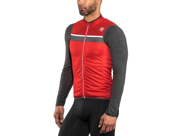 Sportful Pista Sleeveless Jersey Men Red/Anthracite/White